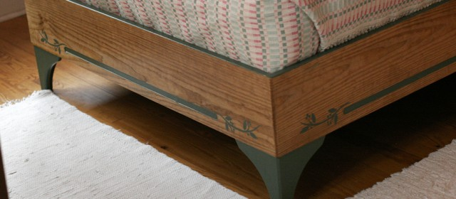 Custom Designed & Painted Bed Frame