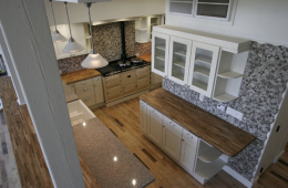 Vanilla Shaker LOFT KITCHEN centered around AGA oven