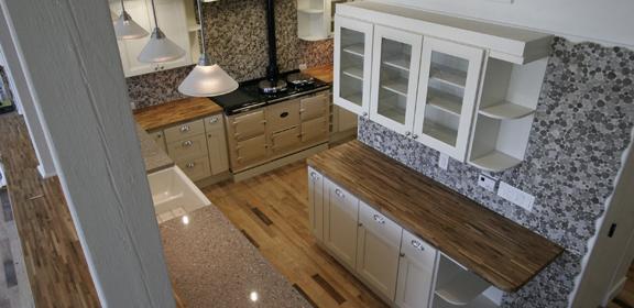 Vanilla Shaker LOFT KITCHEN centered around AGA oven